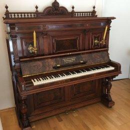 Grotrian-Steinweg 138 Stilinstrument von 1889 in Wurzelnussbaum glänzend